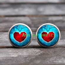 ES-00528 Biliss 2017 New Arrivals Love Heart Shape Magnetic pierced Earrings Fake Ear Studs For Women ear stud Colors Selectable