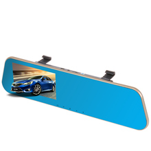 Parking Assistance DVR / camcorder DVR recorder 4.3 inch best rearview mirror vehicle travel data logger