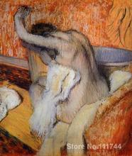 buy a painting After the Bath (Woman Drying Herself) Edgar Degas home decor High quality Hand painted(China)