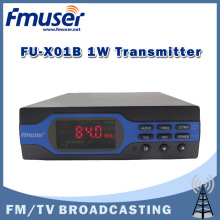 Free Shipping FMUSER FU-X01B 1W FM broadcast Transmitter Upgraded 1 watt FM radio broadcaster MP3+Bluetooth+Battery Function