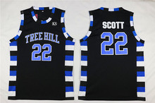 Tree Hill Jersey #22 Scott #3 Lucas Scott and #23 Nathan Scott Ravens Stitched Movie Basketball Jerseys Free Shipping Viva Villa(China)
