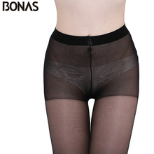 Buy BONAS 15D Nylon Tights Women Summer Transparent Hosiery Pantyhose Fashion Simple Slim Solid Color Stretch Spandex Female Thin