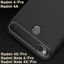 Xiaomi redmi note 4/4x Pro case cover Wiredrawing TPU case for Xiaomi redmi 4 Pro case Carbon Fiber 4A Xiaomi redmi 4X Pro case