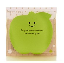 Cute Apple Shape Candy Colors Sticky Notes Memo Pads N Times Post it Note Sticker Office School Supplies 3pcs