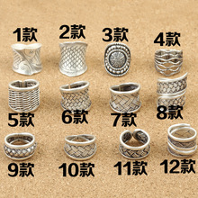 S925 wholesale silver jewelry imported from Thailand folk style retro twist rattan Handmade Silver Men opening ring