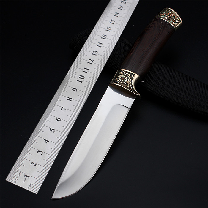 2017 Real New Navajas Outdoor Small Straight Knife Self-defense Wild Wilderness Survival The Folding Fruit Cutter With Flowers<br><br>Aliexpress