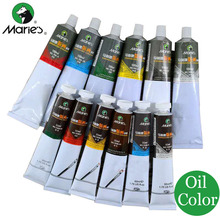 Marie's Oil Paints 6 Colors for Artists Oil Colors Tubes Oil Paint Professional Set Paintcolor Watercolor Artist Painting(China)