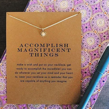 accomplish magnificent things starburst pendant necklace gold color plated clavicle chain helio necklace women jewelry best gift