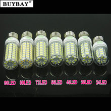 BUYBAY E27 LED bulb corn light E14 led lamp 220V 230V lampada e27 bulb lamp Warm white/Cold white SMD5730 Aliexpress hot sale