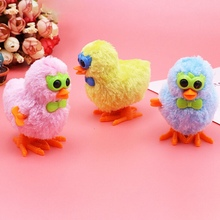 New 1pcs Glasses Plush Chick Toy Clockwork Toy Plush Chick Cute Toys Baby Children's Plush Toys Random Color(China)