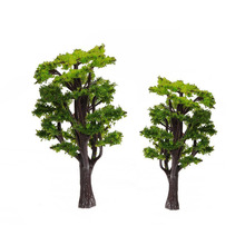 12pcs 1:50 Green Fir Trees Model Train Railway Forest Street Scenery Layout For Sand Table Landscape Model Decor Toys(China)