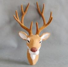 free shipping brown deer head(China)