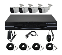 Aokwe 1280* 720P HD 1200TVL Outdoor Security Camera System 1080P HDMI CCTV Video Surveillance 4CH DVR Kit AHD Camera Set