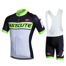 Fastcute Short Sleeve Cycling Clothes Ciclismo Pro Cycling Jersey Summer Men Cycling Clothing Conjunto Ciclismo Bib Shorts Set(China)