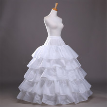 Wedding Petticoat 2016 Ball Gown 4-Hoops 5-Layers Wedding Petticoat Underskirt Crinoline For Wedding Prom Dresses Free Shipping(China)