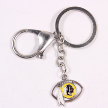 10Pcs Fashionable American Washington Redskin Football Team Fans Key Chain Keyrings
