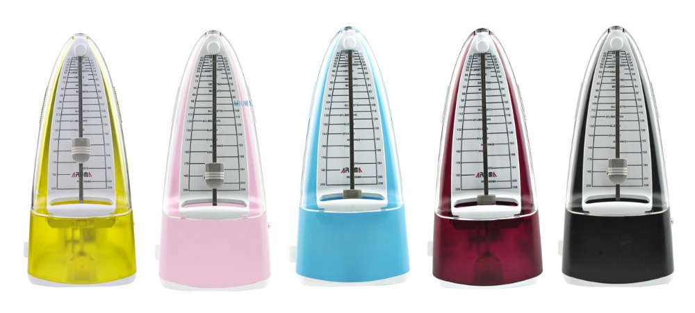 Aroma Universal mechanical metronome for all instruments (Black/Red/Blue/Yellow/Pink options)<br>