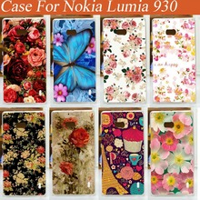 Free Shipping Printed Case For Nokia lumia 930 Various Beautiful Flowers Colored Drawing DIY Case Skin Covers(China)