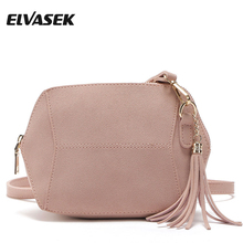 ELVASEK Women Messenger Bags Pu Leather Bags Handbags Ladies Single Shoulder Bags Clutch Female Pouch Shell Style Phone A806(China)