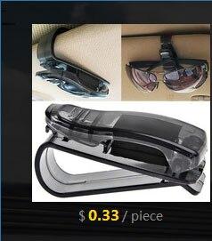 Hot Car Sun Visor Glasses Sunglasses Ticket Receipt Card Clip Storage Holder Car-styling Dropshipping Free Shipping