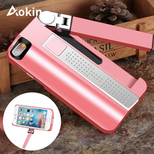 Aokin Selfie Stick Case For Iphone7 7Plus Built in Rechargeable Bluetooth Stretchable Selfie Stick For iPhone 7 Phone Cover Capa(China)