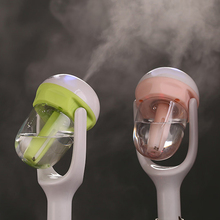12V Portable Auto Mini Car Steam Humidifier Air Purifier Aroma Aromatherapy Essential Oil Diffuser Mist Maker Fogger Green Pink