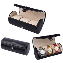 3 Slot Watch Travel Case PU Leather Roll Jewelry Collector Organizer Storage Box #88020(China)