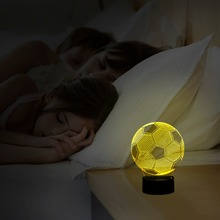 SANYI 3D LED Lamp Touch Sensor Football Shaped 3D Night Light for Soccer Real Madrid Fans Gift LED Luminaria Bedroom Lighting