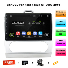 "10.1"" HD 1024*600 Quad Core Android 5.1 Car Audio DVD GPS for Ford Focus (AT) 2007 2008 2009 2010 2011 With Radio WIFI BT USB(China)"