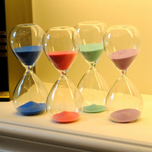 30 Minutes Colorful Transparent Hourglass Sandglass Glass Sand Timer Clock Home Decor Wedding Decoration Accessories Gifts