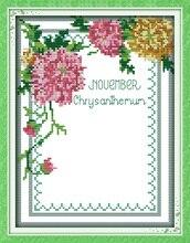 Рамка для фото цветок вышивка крестиком комплект люди 18ct 14ct 11ct Количество печати холст стежки вышивка DIY ручной рукоделие плюс(China)