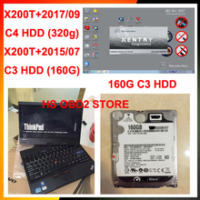 2017 95% X200t computer price best  touch screen laptop for car diagnostic  With C3/C4  hdd for mb star c3 c4 C5  for bmw icom