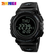SKMEI Brand Men Digital Watch Man Military Multifunction Sports Watches Relogio Masculino  LED Compass Countdown Clock PU Band