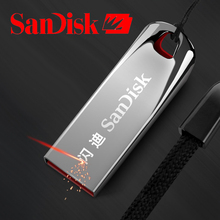 Original Sandisk USB Flash Drive 2.0 Pen Drive 8gb 16gb 32gb 64gb 128gb USB Stick Disk On Key CZ71 Metal Flash Drive OTG Adapter(China)