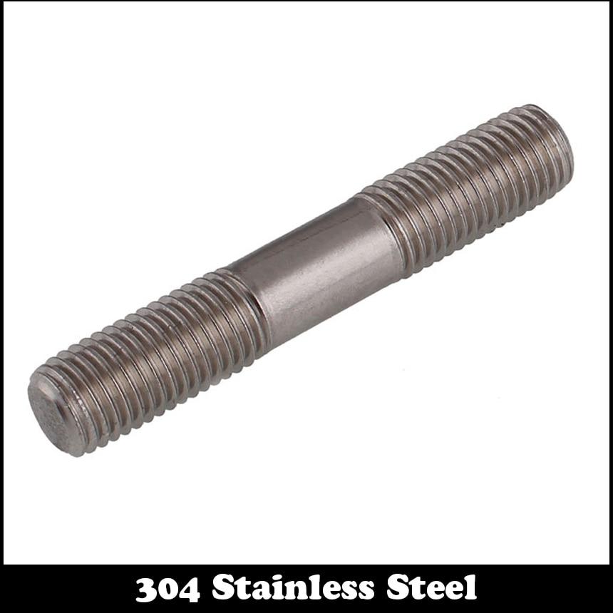 1pc M16 50mm M16*50mm Full Thread 304 Stainless Steel Dual Head Screw Rod Double End Screw Hanger Blot Stud<br><br>Aliexpress