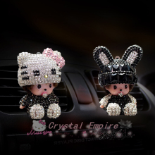 2017 new KiKi luxury car ornaments girl exquisite diamond air conditioning outlet auto air refreshing agent car styling perfumes
