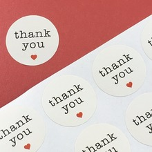 "White ""thank you"" Labels 5000PC/Lot Little Red Heart Sticker Labels Customize Adhesive Label Stickers For Cosmetics/Manicure/box"