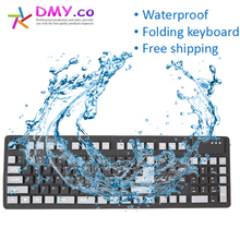 Gaming keyboard high quality English/Russian keyboard with USB wired Waterproof Foldable Soft Flexible Silicone folding Keyboard