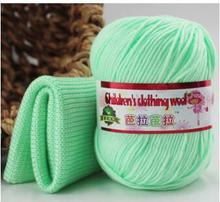 Baby Silk Cashmere Yarn For Hand Knitting Crochet Hook Protein Milk Yarn Threads Lanas Para Tejer Laine A Tricoter