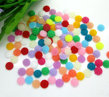 Buy 200Pcs 8mm Mixed Round Flower Design Resin Decoration Crafts Beads Flatback Cabochon Scrapbook DIY Embellishments Accessories for $1.30 in AliExpress store
