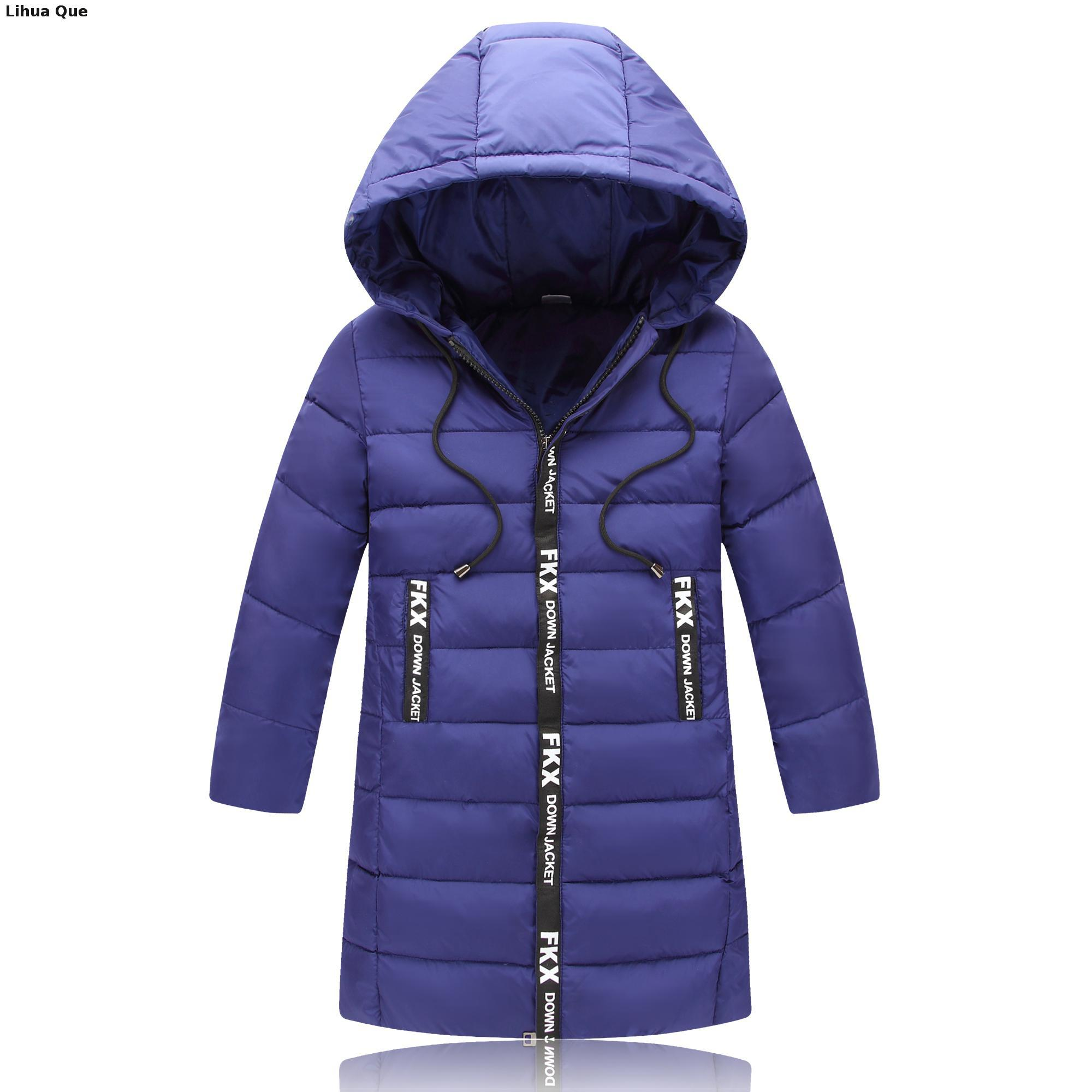 Winter New 2017 Children's Clothing Boy Down Jacket In The Big Child In The Long Section Of The Winter Coat Boys
