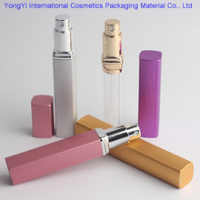 Best selling 12ML High Quality Portable Refillable Aluminum Perfume Bottle With Atomizer Empty Parfum Cosmetic Glass Container