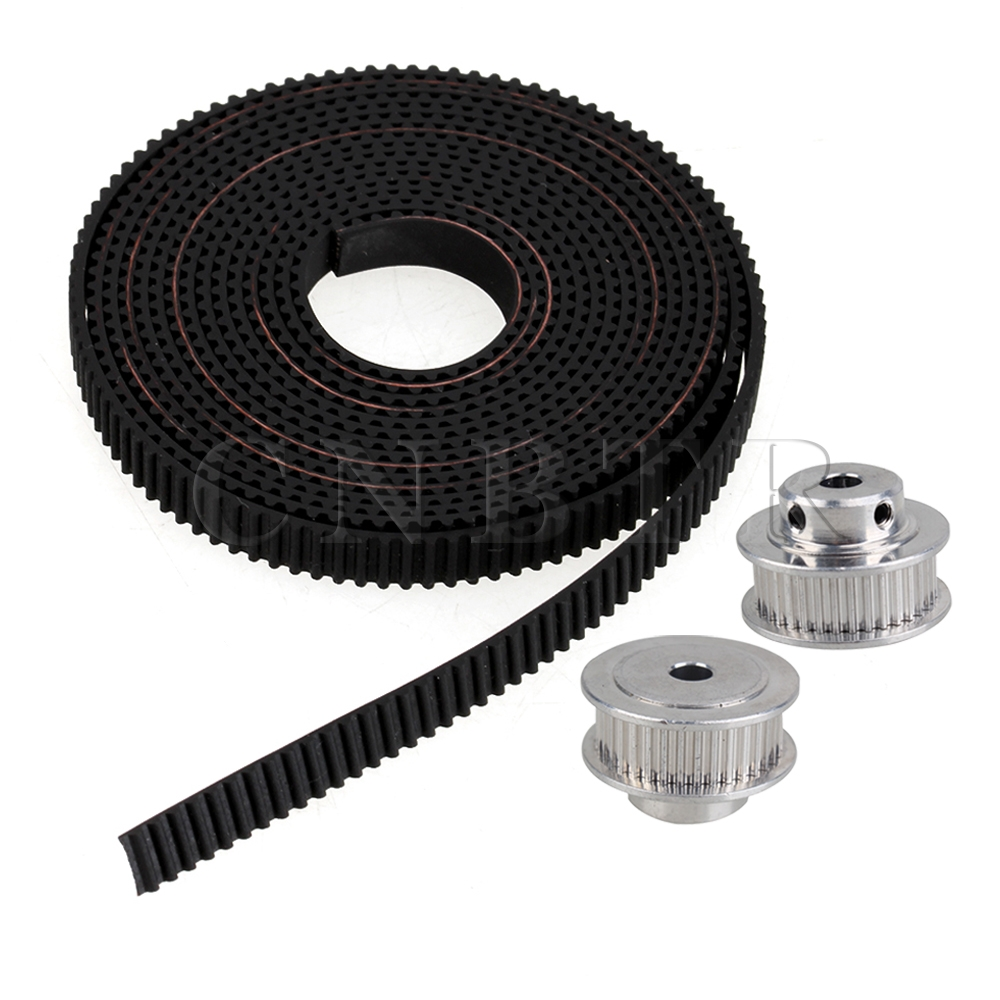 CNBTR  GT2 36T 5mm Bore Timing Belt Pulley with 2mm Pitch Black Belt for Printer<br><br>Aliexpress