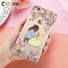 Caseier Phone Case For iPhone 6 6s Plus Bling Diamond Silicone Rose Coque For iPhone 5 5s SE Funda kawaii Shell Capinha Capa(China)