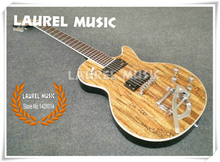 Nature Wood Finish Mother Leed LP Standard Model Electric Guitars China EMG Style Pickup Left Handed Custom Available