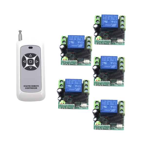 Wireless DC 12V 1 Channel Relay RF Gate Garage Door Remote Control Switch Home Automation Receiver and Transmitter SKU: 5247<br>