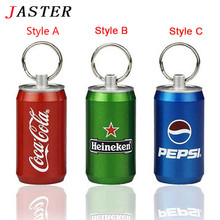 JASTER Pen DriveMetal Bottle of Cola beer Bottle pendrive 8 gb 16 gb 32 gb 64 gb usb flash drive memory stick U disk