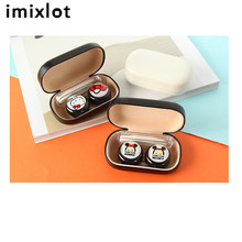 Imixlot 1 Set Cartoon Contact Lens Case Women Hard Contact Lenses Box For Men Cute Eyeglass Box Container Christmas Gift(China)