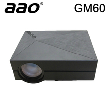Original AAO GM60 Mini Proyector LED Projector Video Projetor Games TV Beamer 1080P 1920x1080 Korean Russian Portuguese Spanish(China)