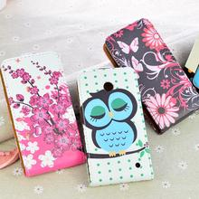 Hot Sale Fashion Colorful Design Flip PU Leather Phone Cover Case For Nokia Lumia 630 635 N630 N635 Case With Different Options